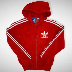Adidas Red Hoodie w/Logo